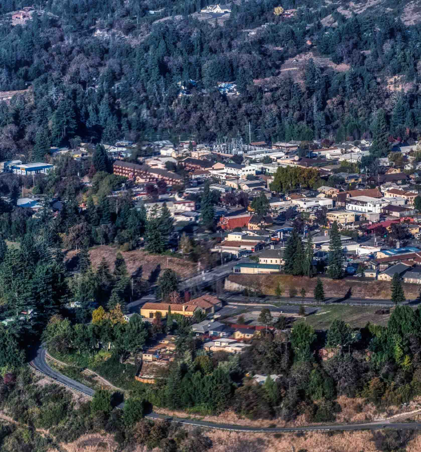 The town of Garberville, CA   <i>by Kim Sallaway</i>