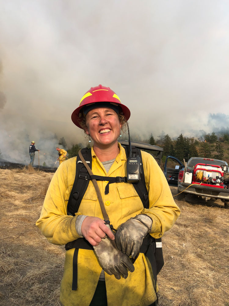 Photo of author Lenya Quinn-Davidson, a prescribed fire expert.