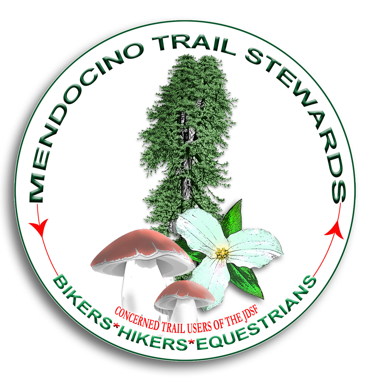 mendocino trail stewards logo